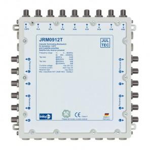 Jultec JRM 0912T Sat-Multischalter 12 Teilnehmer | 2 Satelliten, Endkaskade, DVB-T/T2- und DVB-C/Docsis-Verteilung, stromsparend