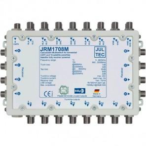 Jultec JRM 1708M Sat-Multischalter 8 Teilnehmer | 4 Satelliten, kaskadierbar, DVB-T/T2- und DVB-C/Docsis-Verteilung, stromsparend