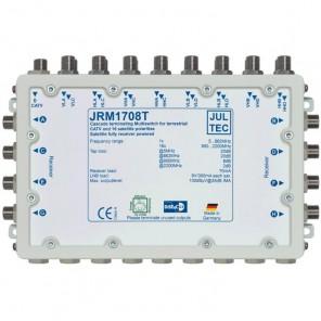 Jultec JRM 1708T Sat-Multischalter 8 Teilnehmer | 4 Satelliten, Endkaskade, DVB-T/T2- und DVB-C/Docsis-Verteilung, stromsparend