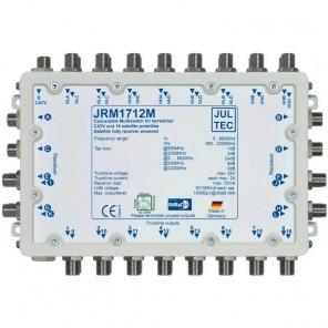 Jultec JRM 1712M Sat-Multischalter 12 Teilnehmer | 4 Satelliten, kaskadierbar, DVB-T/T2- und DVB-C/Docsis-Verteilung, stromsparend