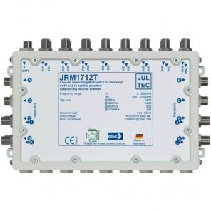 Jultec JRM 1712T Sat-Multischalter 12 Teilnehmer | 4 Satelliten, Endkaskade, DVB-T/T2- und DVB-C/Docsis-Verteilung, stromsparend