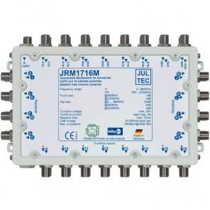 Jultec JRM 1716M Sat-Multischalter 16 Teilnehmer | 4 Satelliten, kaskadierbar, DVB-T/T2- und DVB-C/Docsis-Verteilung, stromsparend