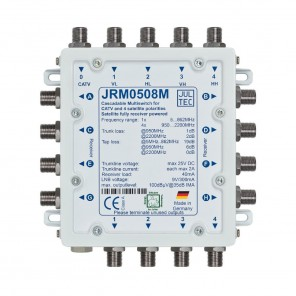 Jultec JRM 0508M Multischalter stromsparend | 1 Satellit | 8 Teilnehmer | kaskadierbar