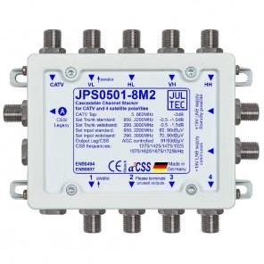 Jultec JPS0501-8M2 Einkabelumsetzer a²CSS konfigurierbar | 1 Satellit | 8 Teilnehmer | kaskadierbar
