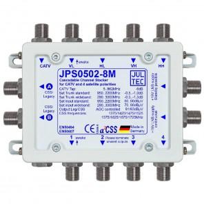 Jultec JPS0502-8M Einkabelumsetzer a²CSS konfigurierbar   1 Satellit   bis zu 16 Teilnehmer   kaskadierbar