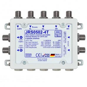 Jultec JRS0502-4T Einkabelumsetzer a²CSS konfigurierbar und stromsparend | 1 Satellit | bis zu 8 Teilnehmer | Endkaskade
