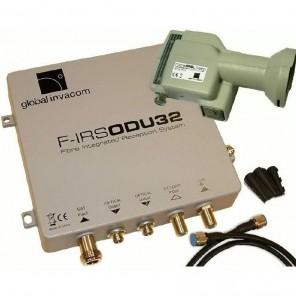 Invacom Fibre IRS ODU32 Kit LNB m. opt.Ausgang + ODU32 DVB-T