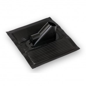 ADZ 616 schwarzer Aluminium-Dachziegel mit kunststoffbeschichteter Oberfläche und Kabeleinführung