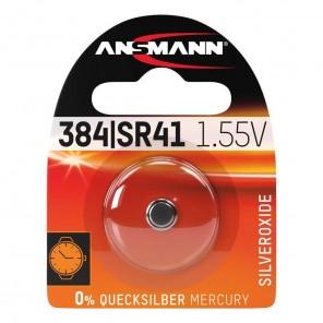 Ansmann Silberoxid Knopfzelle SR41/SR736/384/392,1,55V,1er-Blister