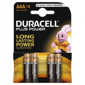 Duracell MN2400 PlusPower Micro Batterie | AAA Alkaline-Batterie 4er-Blister