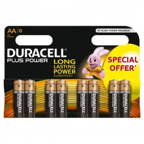 Duracell MN1500 PlusPower 1,5 Volt Mignon Batterie | AA Alkaline-Batterie 8er-Blister