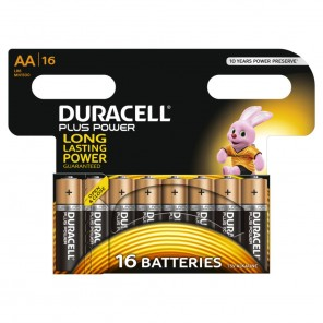 Duracell MN1500 PlusPower 1,5 Volt Mignon Batterie | AA Alkaline-Batterie 16er-Blister wiederverschließbar