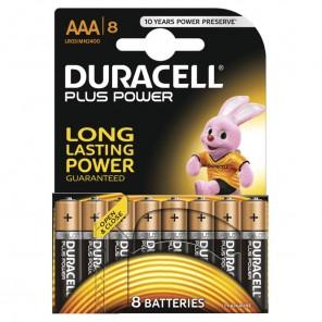 Duracell MN2400 PlusPower Micro Batterie | AAA Alkaline-Batterie 8er-Blister wiederverschließbar