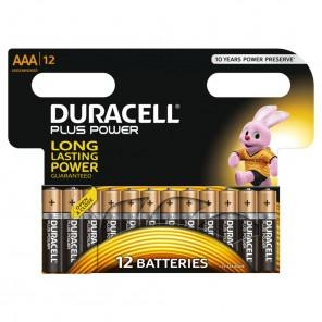 Duracell MN2400 PlusPower Micro Batterie | AAA Alkaline-Batterie 12er-Blister wiederverschließbar
