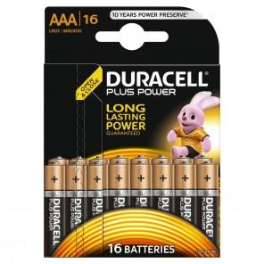 Duracell MN 2400 PlusPower Micro,AAA,Alkaline,Blister16,wiederverschließbar