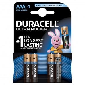 Duracell MX2400 UltraPower 1,5 Volt Micro Batterie mit Powercheck | AAA Alkaline-Batterie (LR3) 4er-Blister/4 Stück