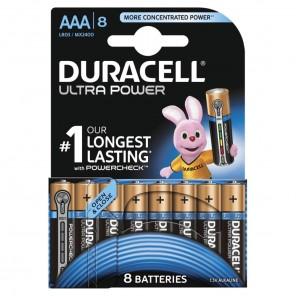Duracell MX2400 UltraPower 1,5 Volt Micro Batterie mit Powercheck | AAA Alkaline-Batterie (LR3) 8er-Blister/8 Stück
