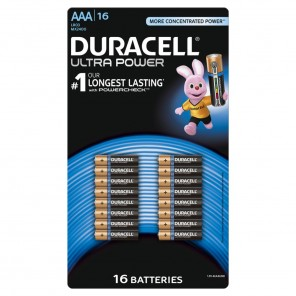 Duracell MN 2400 UltraPower Micro,AAA,Alkaline,Blister 16,Powercheck