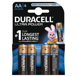 Duracell MX1500 UltraPower Mignon Batterie | AA Alkaline,Powercheck,4er-Blister