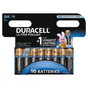 Duracell MX1500 UltraPower 1,5 Volt Mignon Batterie mit Powercheck | AA Alkaline-Batterie (LR6) 16er-Blister/16 Stück wiederverschließbar