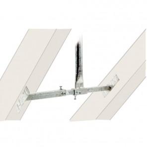 DSH 900 Dachsparrenhalter für Sparrenabstände  von 570 bis 800 mm mit stufenlos einstellbarem Neigungswinkel und 90 cm Rohrlänge