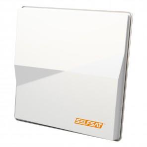 Selfsat H50 M Single Sat Flachantenne Astra/Hotbird für einen Teilnehmer | HDTV- und 4K(UHD)-tauglich, weiß, zwei Satelliten, 527 x 520 x 112 mm