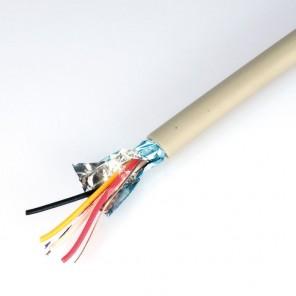 Telefonkabel 100m 2 x 2 x 0,6 J-Y(ST)Y Verlegekabel JYSTY 4 Adern Telefonleitung grau