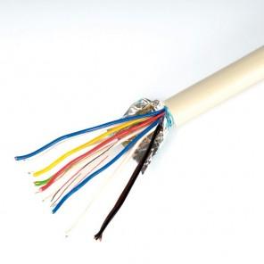 Telefonkabel 100m 6 x 2 x 0,6 J-Y(ST)Y Verlegekabel JYSTY 12 Adern Telefonleitung grau