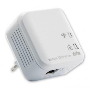Fuba WebJack 5510 WLAN Powerline Adapter | Powerline bis zu 500 MBit/s, WLAN N bis zu 150 MBit/s, 1x Fast Ethernet RJ45 | B-Ware