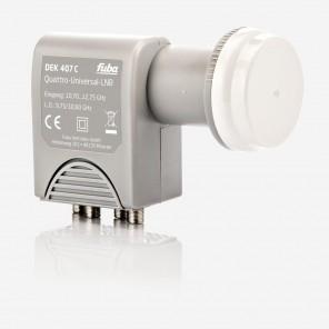Fuba DEK 407 C Quattro LNB | nur für den Multischalterbetrieb, HDTV- 3D- 4K-tauglich, optimale Mobilfunkabschirmung