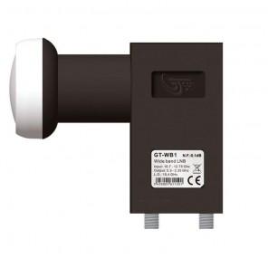 GT-Sat WB1 Wideband LNB 40mm schwarz 0,1dB | LO-Frequenz: 10,41 GHz, HDTV-, 4K-, 3D-tauglich