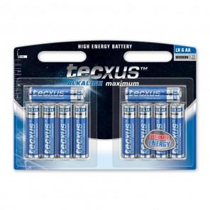 Tecxus Mignon LR6 Alkaline Batterie AA 1,5 Volt 10er Pack