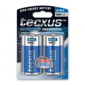 Tecxus Mono LR20 D Alkaline Monozelle 1,5 Volt 2er Pack