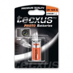 Tecxus CR123A CR 123 Photo Lithium Foto Batterie 3 Volt 1500 mAh