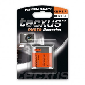 Tecxus CR P2P Photo Lithium Foto Batterie 6 Volt 1500 mAh