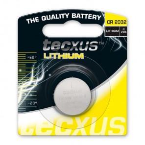 Tecxus CR 2032 Lithium Knopfzelle 3 Volt 220 mAh