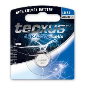 Tecxus LR 54 Alkaline Knopfzelle 1,5 Volt 75 mAh