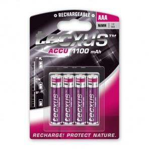 Tecxus Micro AAA NiMH Akku 1,2 Volt 1100 mAh 4er Pack Blister