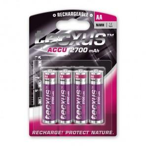 Tecxus Mignon AA NiMH Akku 1,2 Volt 2700 mAh 4er Pack Blister