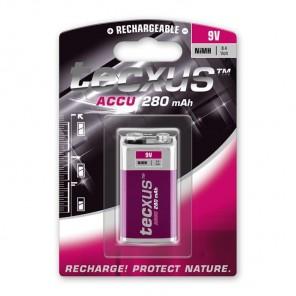 Tecxus 9V-Block NiMH Akku 8,4 Volt 280 mAh