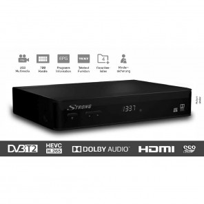 Strong SRT 8210 DVB-T2 HD-Receiver für DVB-T2 und DVB-T Free-To-Air | B-Ware