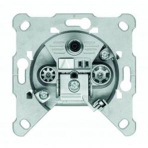 Triax EDM 304 3-Loch Multimedia-BK-Einzeldose 4,5dB Anschlussdämpfung Kabelmodem-tauglich