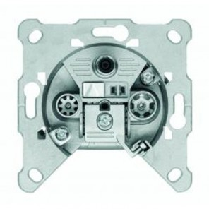 Triax GDM 310 3-Loch Multimedia-BK-Durchgangsdose Kabelmodem-tauglich