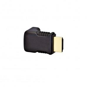Black Connect HDMI-Winkeladapter 90°