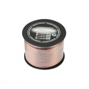 Black Connect Lautsprecherkabel CCA | 2x0,75 mm², transparent, 100m Spule