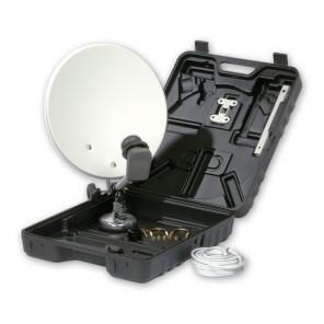 SAT-Campingkoffer mit 35-cm-Offset-Antenne ohne LNB