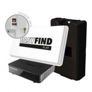 Camping Sat Anlage EasyFind Flat | Flach-Antenne + EasyFind LNB + HDTV Receiver | B-Ware