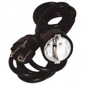 SVL 1001 10,0m Schutzkontakt Verlängerung schwarz | Steckdosenverlängerung 10 Meter