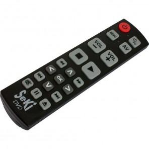 Seki DVD schwarz lernfähige Universal Infrarot Fernbedienung für DVD- und BluRay-Player