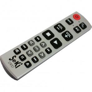 Seki DVD silber/schwarz lernfähige Universal Infrarot Fernbedienung für DVD- und BluRay-Player